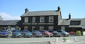 Porthmadog - Porthmadog Harbour Railway Station is the southern terminus of the rebuilt Welsh Highland Railway.