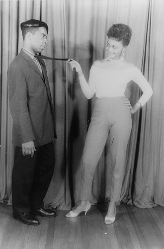 Simply Heavenly - Ethel Ayler and Melvin Stewart as Zirata and Simple in Simply heavenly, 1957