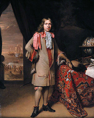 Willem de Vlamingh - Portrait by Jan Verkolje and his son Nicolaas, ca. 1690, thought to be of Willem de Vlamingh