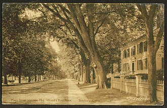 Simsbury, Connecticut - Main Street in 1921