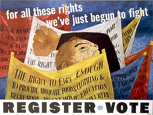 Ben Shahn - Congress of Industrial Organizations (CIO) poster (1946)