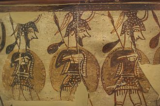 Warrior Vase - Detail of the soldiers