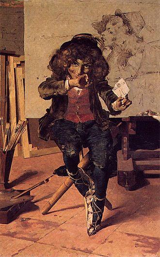 Henrique Pousão - Waiting for Success (1882)