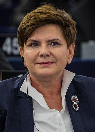 Next Polish parliamentary election - Image: Premier RP Beata Szydło w Parlamencie UE