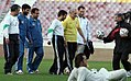 President Mahmoud Ahmadinejad, Iran's national football (soccer) team - 28 February 2006 (13 8412090596 L600).jpg