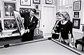 President Ronald Reagan and Nancy Reagan in the gaming room during an interview with Barbara Walters.jpg