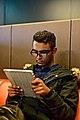Pretending to study (15214795165).jpg