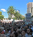 Price on pollution rally Melbourne view to Treasury Gardens.JPG