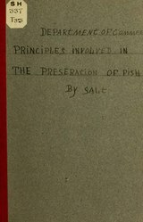 Principles Involved in the Preservation of Fish by Salt