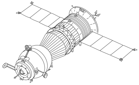 Space Probe Drawing with Wheels - Pics about space