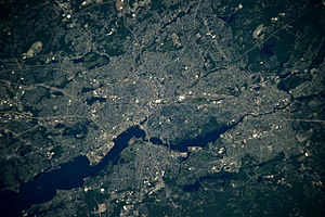 Providence, Rhode Island - Astronaut photograph of Providence, Rhode Island taken from the International Space Station (ISS)