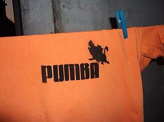Timon and Pumbaa - Stencil (Puma AG parody)
