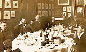 Punch (magazine) - Editorial meeting of Punch magazine in the late 19th century