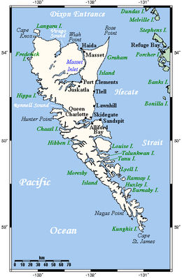 Queen Charlotte Islands On A Map Of Canada Haida Gwaii   Wikipedia