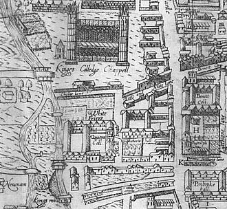 Queens' College, Cambridge - Plan of Queens' College, 1574