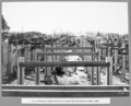 Queensland State Archives 3679 South approach commencement of timbering for slab and beam forms Brisbane 1 July 1936.png