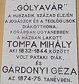 Rákóczi Road, Tompa - Gárdonyi plaque, 2020 Sárospatak.jpg