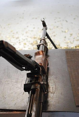 RPD machine gun - Feeding system of RPD machine gun