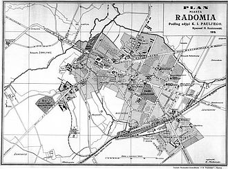 Radom - City map from 1919