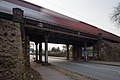 Railroad bridge freight train bypass Davenstedter Strasse Davenstedt Limmer Linden Hannover Germany.jpg