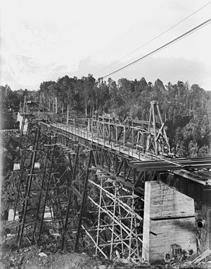 John Anderson (mayor) - Railway viaduct at Makatote under construction in 1908