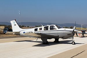 """135 Squadron (Israel) - Bonanza A36 (""""Khofit"""") plane of this squadron"""