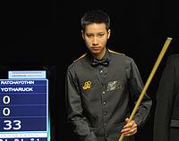 Ratchayothin Yotharuck at Snooker German Masters (Martin Rulsch) 2014-01-29 03.jpg