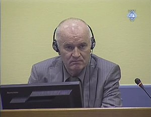 Ratko Mladić - Mladić in court, June 2011