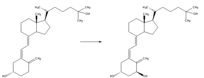 Reaction - calcidiol to calcitriol.png