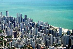 Boa Viagem, Recife - Aerial view of Boa Viagem