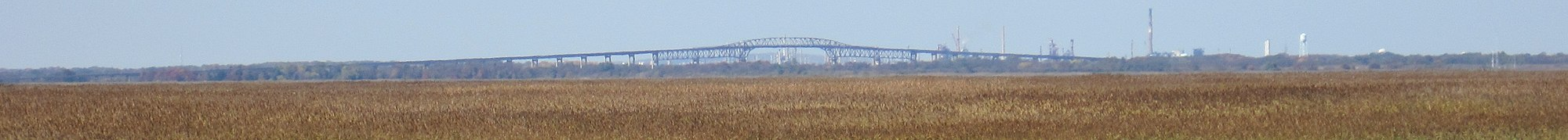 Panorama of a cantilever bridge