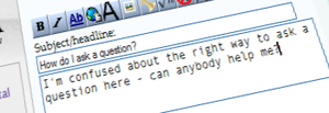 Example screenshot of asking a question at the...