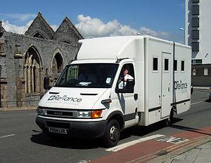 Prisoner transport vehicle - British prisoner transport vehicle.