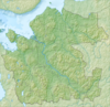 100px relief map archangelsk oblast mainland