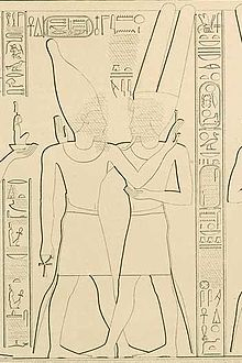 Takelot II (left) and Amun-Ra at Karnak