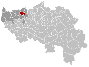 Remicourt, Belgium - Image: Remicourt Liège Belgium Map