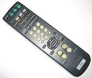 English: A television remote control.