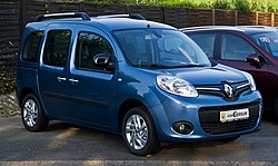 Renault Kangoo Paris 105 (II, Facelift) – Frontansicht, 10. August 2013, Ratingen.jpg