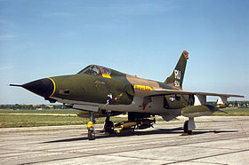 Un F-105D survivant, baptisé Memphis Belle II, exposé au National Museum of the United States Air Force.