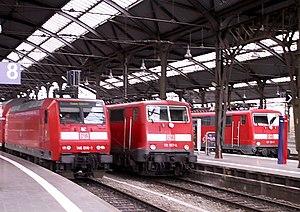 Aachen Hauptbahnhof - Regional-Express trains in Aachen Hauptbahnhof.