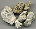 Rhyolitic pumice (El Cajete Pumice, Upper Pleistocene, 55-60 ka; Rt. 4 roadcut, southern margin of Valles Caldera, northern New Mexico, USA).jpg