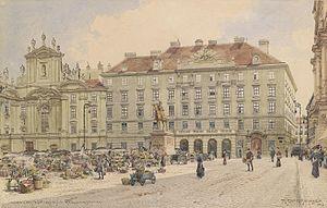 Minister of War (Austria-Hungary) - Austrian war ministry building, Am Hof (demolished in 1913)