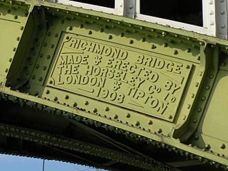 Horseley Ironworks - Image: Richmond Railway Bridge 290r 1