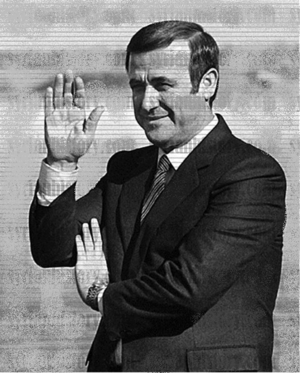 Rifaat al-Assad - Image: Rifaat al Assad, commander of the Defense Corps in the 1980s