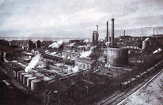 Economy of Croatia - Oil refinery in Rijeka in the 1930s
