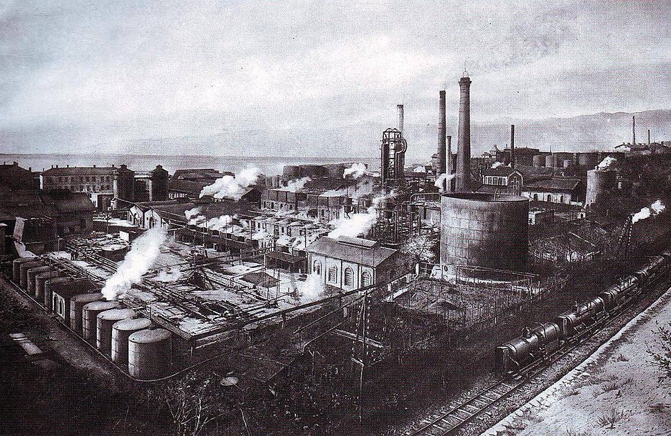 Rijeka oil refinery around 1930