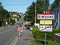 Rimogne (Ardennes) city limit sign.JPG