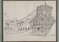 Ritning-Galleri och akterspegel. 1667 - Sjöhistoriska museet - O 04111.tif