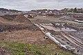 Road construction at E18 by Rudshøgda, Hedmark, Norway.jpg