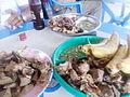 Roast bananas and meat..JPG